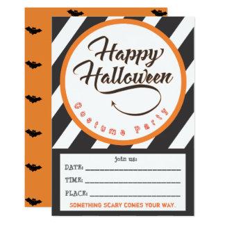 Glückliches Halloween-Teil laden - Schläger-Thema Karte