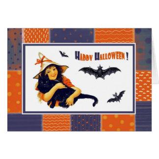 Glückliches Halloween! Vintage Karte