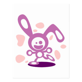 Glückliches Häschen (lila) Postkarte