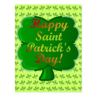 Glückliches Heiligen Patrick TagesKleeblatt Postkarte