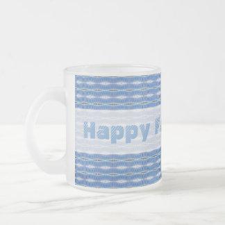 glückliches hellblaues Muster des Vatertags Teetasse