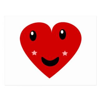 Glückliches Herz Postkarte