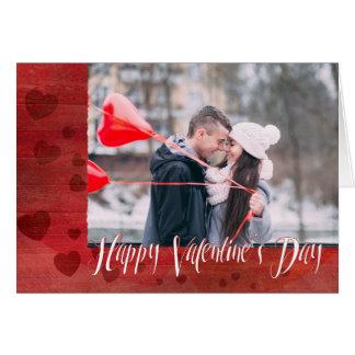 Glückliches Herzgewohnheits-Foto des Valentines Karte