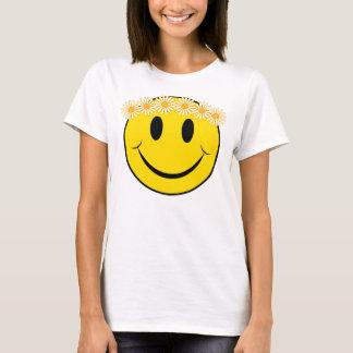 Glückliches Hippie-Gesicht T-Shirt