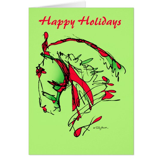 Glückliches Holidays_Noble stellen Karte gegenüber