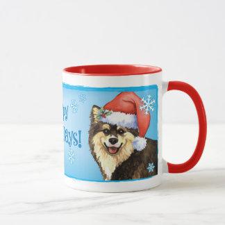 Glückliches Howliday finnisches Lapphund Tasse