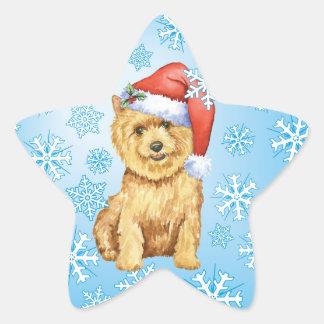 Glückliches Howlidays Norwich Terrier Stern-Aufkleber