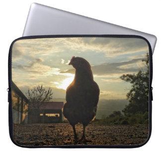 Glückliches Huhn Laptop Computer Schutzhüllen