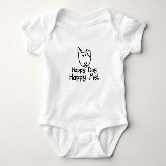 glückliches Hundebaby wachsen Baby Strampler