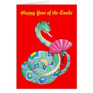 Glückliches Jahr der Schlange - Karte