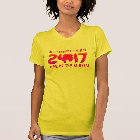 Glückliches Jahr des Neujahrsfest-2017% pipe% des T-Shirt
