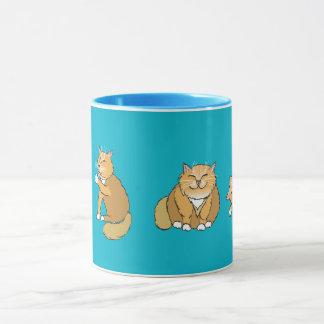 Glückliches Kats Tasse
