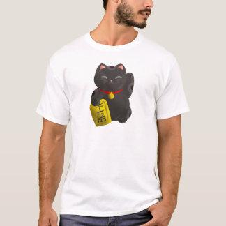 Glückliches Katzen-Schwarzes T-Shirt