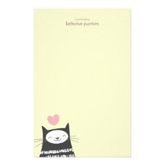 Glückliches Kawaii Katze Personalizable Briefpapier