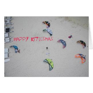 """Glückliches Kitesmas"" kiteboard kitesurf Karte"