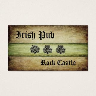 Glückliches Kleeblatt beruflichen grundge irischen Visitenkarte