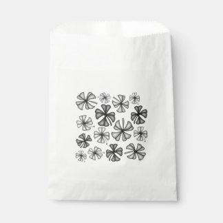 Glückliches Kleeblatt-Klee-Grau Geschenktütchen