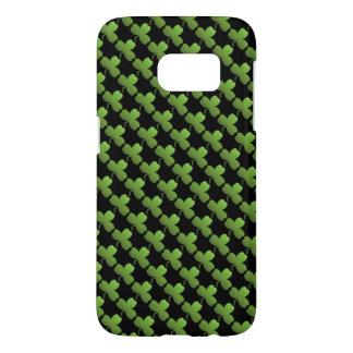 Glückliches Kleeblatt-Muster, Schwarzes und Grün