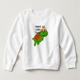 Glückliches kleines Schildkröte-Sweatshirt Sweatshirt