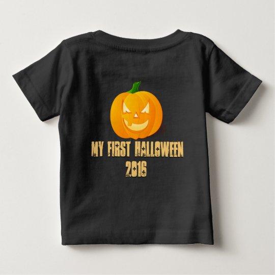 Glückliches Kürbis-Baby-Shirt Halloweens erstes Baby T-shirt