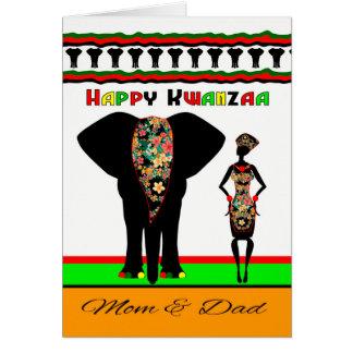 Glückliches Kwanzaa, Stammes- Entwurf mit Karte