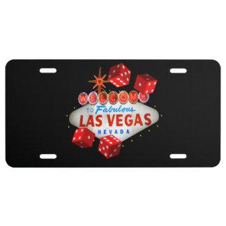 Glückliches Las Vegas-Gewohnheits-Kfz-Kennzeichen US Nummernschild