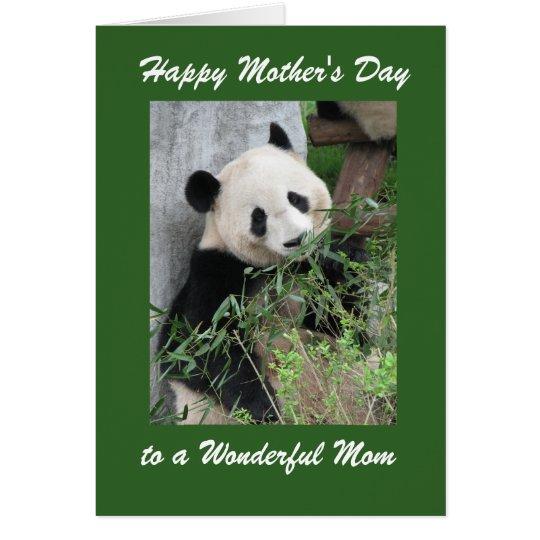 Glückliches Mamma-Gruß-Karten-Panda-Grün der Karte
