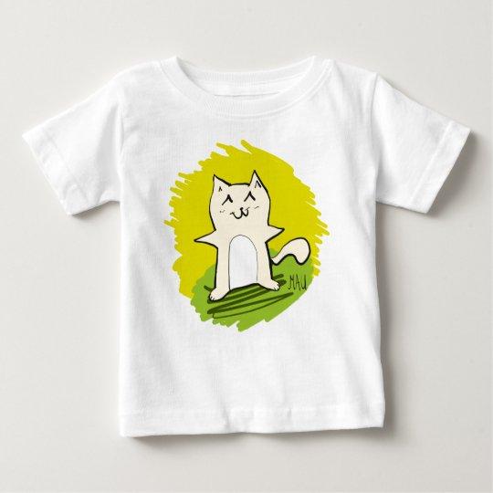 Glückliches Mau Baby T-shirt