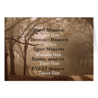 Glückliches Moment-Lob-Gott-Zitat Grußkarte
