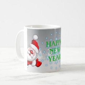 Glückliches neues Jahr 11 Unze-Klassiker-Tasse Kaffeetasse