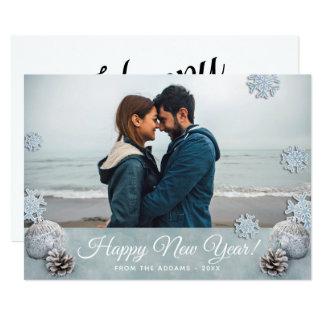 Glückliches neues Jahr-Feiertags-Foto Karte