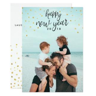 Glückliches neues Jahr-Fotofestlicher 12,7 X 17,8 Cm Einladungskarte