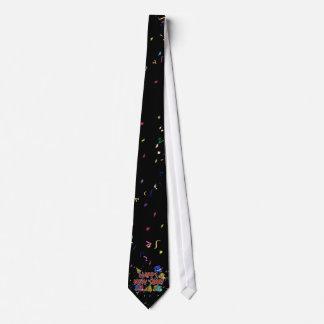 Glückliches neues Jahr-Party-Hüte Bedruckte Krawatte