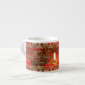 Glückliches neues Jahr-Tasse Espressotasse