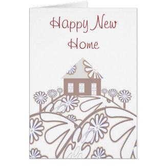 Glückliches neues Zuhause Grußkarte