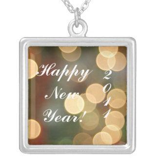 Glückliches NewYear! , 2011 Versilberte Kette