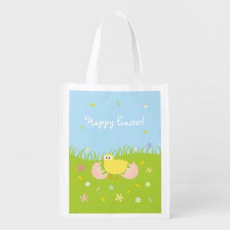 Glückliches niedliches Baby-Küken Ostern Wiederverwendbare Einkaufstasche