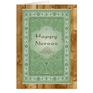 Glückliches Norooz, persische Wolldecke Grußkarte