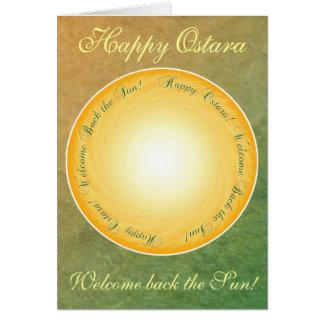 Glückliches Ostara! Willkommen zurück der Sun! Grußkarte