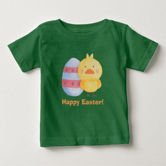 Glückliches Osterei und Küken für Babys Baby T-shirt
