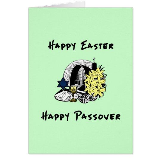 Glückliches Ostern und Passahfest zwischen Karte