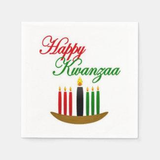 Glückliches Party-Papierservietten Kwanzaas Papierserviette