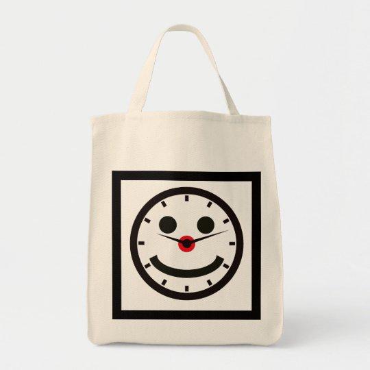 Glückliches persönliches Gespräch - abgestoppt Einkaufstasche