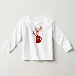 Glückliches Ren Kleinkind T-shirt