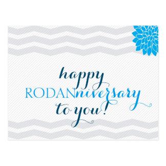Glückliches Rodanniversary - doppelseitig Postkarte