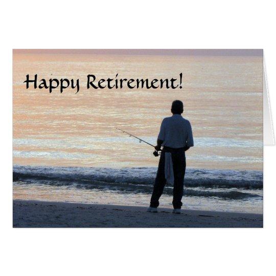 Glückliches Ruhestands-Karten-Fischen Karte