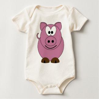Glückliches Schwein Baby Strampler