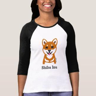Glückliches Shiba Inu Cartoon Shirt