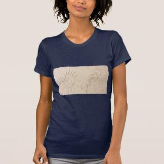 Glückliches sonniges Sonnenscheint-shirt. Zeichnen T-Shirt