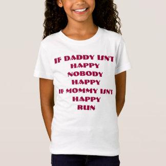 Glückliches T-Shirt des Vatis nicht.